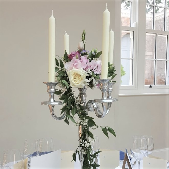 Candelabra With Floral Flat Flat Hire