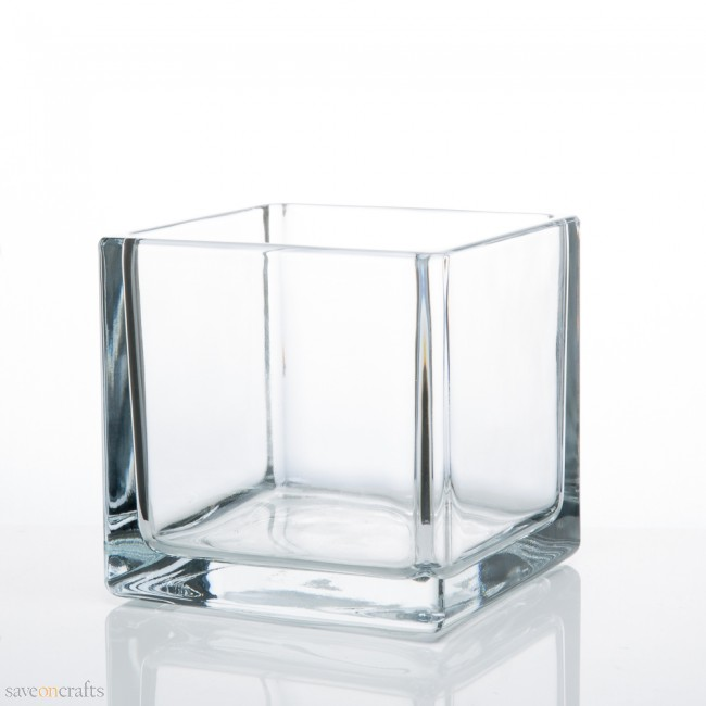 Glass Cube Centrepiece Wedding Hire